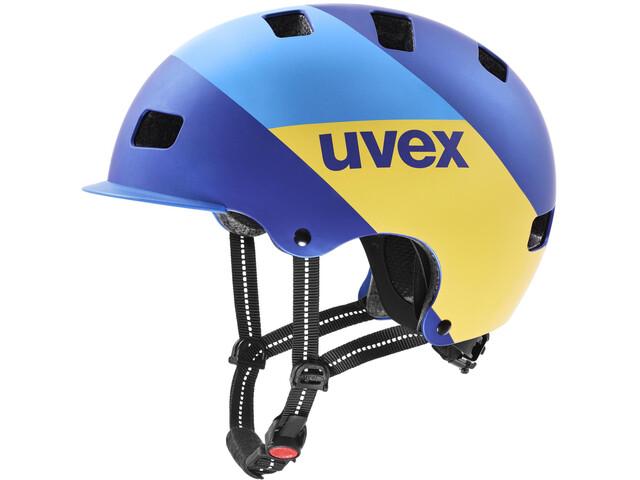 UVEX hlmt 5 Bike Pro Helm, blue energy mat